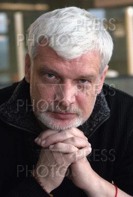 1146639 / Дмитрий Брусникин. Сьемки сериала `Закон и порядок`. На снимке: режиссер Дмитрий Брусникин.