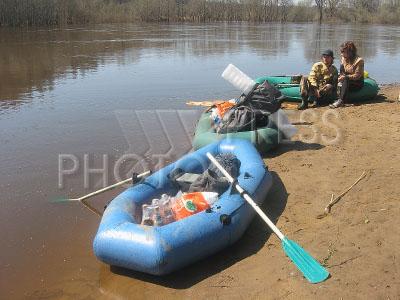 на лодке по клязьме