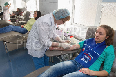 4089605 / Станция переливания крови. Станция переливания крови. Благотворительная акция `Ради жизни`.