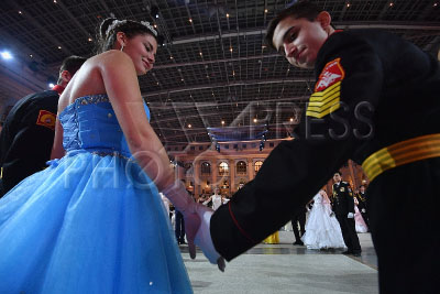 4169031 / Кремлевский кадетский бал. Международный Кремлевский кадетский бал. На снимке: участники бала.