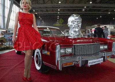 4194506 / Автомобиль Cadillac Eldorado. 26-я `Олдтаймер-Галерея`. Выставка `Первые моторы России` к 110-летию гаража царской семьи. На снимке: автомобиль Cadillac Eldorado.
