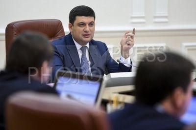 4196161 / Владимир Гройсман. Заседание правительства Украины. На снимке: премьер-министр Украины Владимир Гройсман.