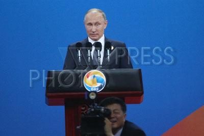 4214372 / Владимир Путин. визит президента РФ в Китай. Международный форум `Один пояс - один путь`. Президент России Владимир Путин.