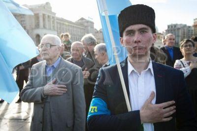 4215049 / Митинг памяти жертв депортации. Митинг в память о жертвах депортации крымских татар в 1944 году.