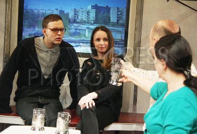 4215710 / Стеклов и Литвинова. На снимке: актеры Данил Стеклов и Ольга Литвинова.