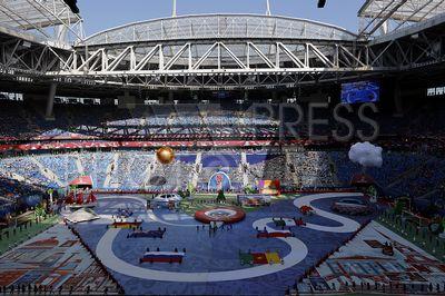 4226133 / Кубок Конфедераций FIFA 2017. Кубок Конфедераций FIFA 2017. Церемония открытия. Стадион `Санкт-Петербург Арена`. На снимке: театрализованное представление.