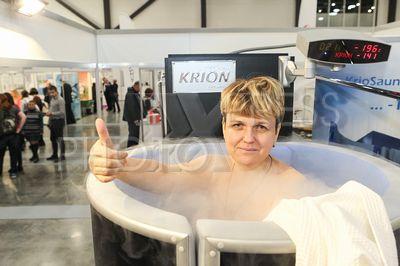 4257950 / Криосауна. Петербургский международный форум здоровья 2017. Криосауна на выставке.