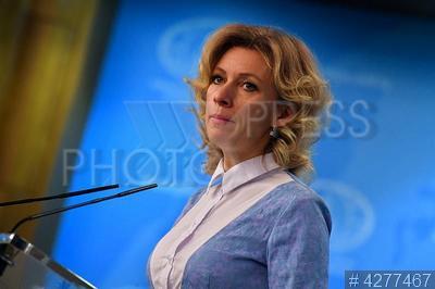 4277467 / Мария Захарова. Официальный представитель МИД РФ Мария Захарова на брифинге по текущим вопросам внешней политики.