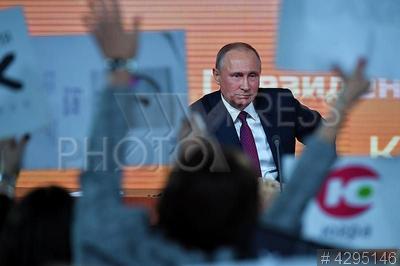 4295146 / Владимир Путин. Большая пресс-конференция президента РФ. Президент России Владимир Путин.