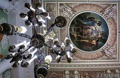 4301846 / Юсуповский дворец. Интерьеры отреставрированных залов Юсуповского дворца. Роспись плафона Зала Виги.