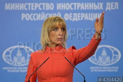 4304420 / Мария Захарова. Официальный представитель МИД РФ Мария Захарова на брифинге по текущим вопросам внешней политики.