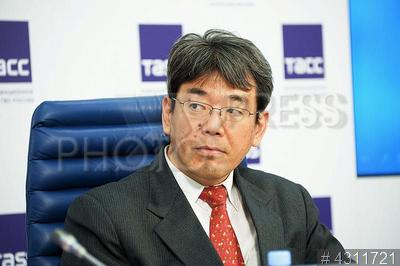 4311721 / Тосио Ямамото. Заведующий информационным отделом Посольства Японии в РФ Тосио Ямамото.