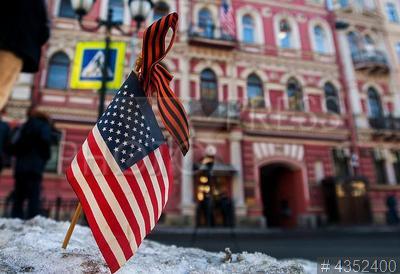 4352400 / Генконсульство США в Петербурге. Генеральное консульство США в Санкт-Петербурге перед закрытием.