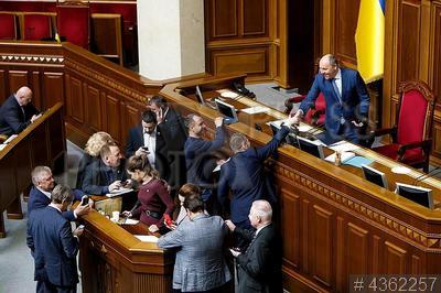 4362257 / Андрей Парубий. Заседание Верховной Рады Украины. Председатель Верховной Рады Андрей Парубий (справа).