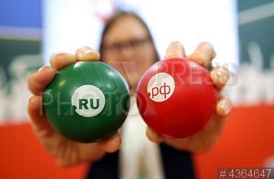 4364647 / Интернет форум. Российский интернет форум (РИФ). Шары с доменами RU и РФ.