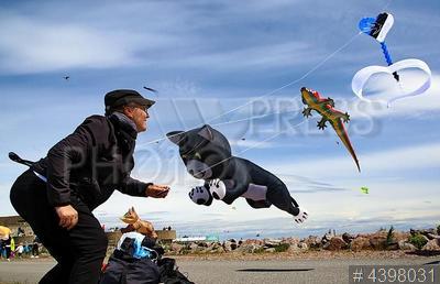 4398031 / Фестиваль воздушных змеев. Второй международный фестиваль воздушных змеев `Фортолет`. Участники на территории форта `Константин`.