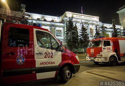4425383 / Пожар в Центробанке РФ. Возгорание в здании Центрального банка РФ.