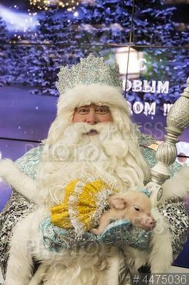 4475036 / Дед Мороз. Главный Дед Мороз (Андрей Балин) на пресс-конференции.