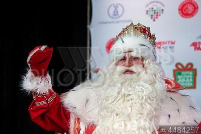 4484257 / Дед Мороз. Всероссийский Дед Мороз из Великого Устюга на пресс–конференции, посвященной его визиту в Санкт-Петербург.