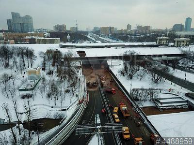 4488959 / Авария в Тушинском тоннеле. Волоколамского шоссе. Тушинский тоннель, подтопленный после провала грунта в шлюзе №8 канала имени Москвы.