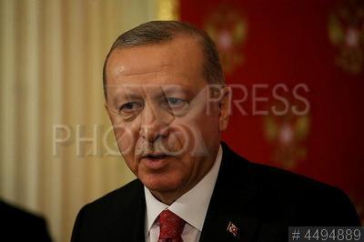 4494889 / Реджеп Тайип Эрдоган. визит президента Турции в Россию. Российско-турецкие переговоры. Президент Турецкой Республики Реджеп Тайип Эрдоган.