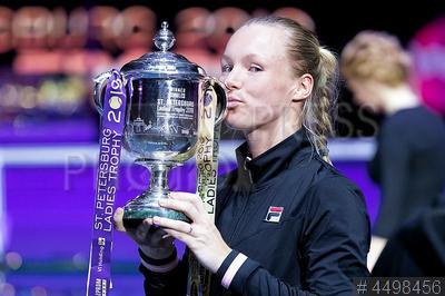 4498456 / Кики Бертенс. Международный теннисный турнир `St Petersburg Ladies Trophy 2019`. Победительница турнира теннисистка Кики Бертенс (Голландия).