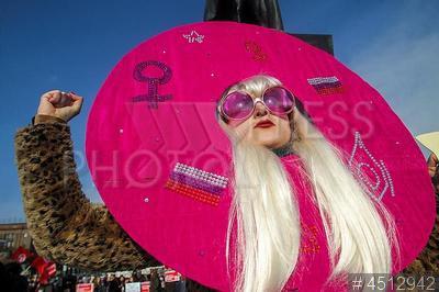 4512942 / Митинг феминисток. Митинг феминисток в честь Международного женского дня под лозунгом `Феминизм для каждой!`.