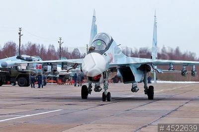 4522639 / Самолет Су-30СМ. Учения оперативно-тактической авиации Западного военного округа `Ладога-2019`. Лётная смена на аэродроме Бесовец. Многоцелевой истребитель Су-30СМ.