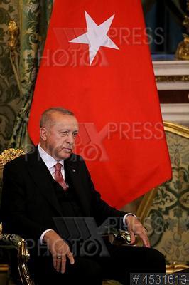 4531613 / эрдоган. Визит президента Турции в Россию. Президент Турции Реджеп Тайип Эрдоган на встрече с президентом РФ