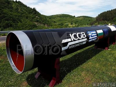 4566764 / Строительство газопровода. Кирково. Строительство межсистемного газопровода между Болгарией и Грецией. Газовая труба.