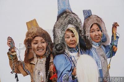4675861 / Якутский праздник лета. Государственный музее-заповедник `Коломенское`. Национальный якутский праздник лета Ысыах.
