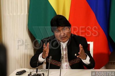 5080784 / Эво Моралес. визит президента Боливии в Россию. Президент Многонационального Государства Боливия Эво Моралес.