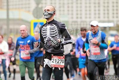 6120642 / Московский марафон. 7-ой Московский марафон. Участники марафона.
