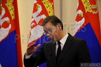 6146643 / Александр Вучич. визит президента Сербии в Россию. Российско-сербские переговоры. Президент Республики Сербия Александр Вучич.