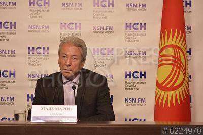 6224970 / Адахан Мадумаров. Брифинг `Киргизский кризис и выборы президента`. Кандидат в президенты Киргизской Республики Адахан Мадумаров.