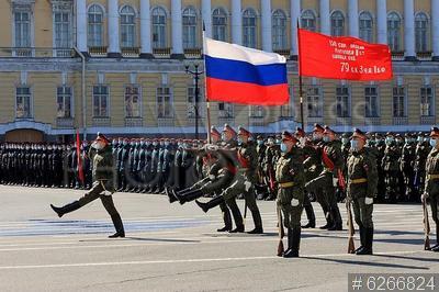 6266824 / Репетиция Парада Победы. Репетиция военного парада в честь 76-й годовщины Победы в Великой Отечественной войне.