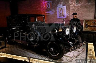 6292195 / Автомобиль `Rolls-Royce`. ВДНХ. Музей Гаража особого назначения (ГОН) ФСО РФ. Автомобиль `Rolls-Royce` В.И. Ленина.